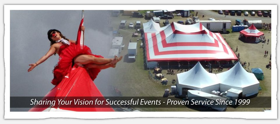 Sharing Your Vision for Successful Events - Proven Service Since 1999 | clown and tent